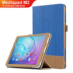 Handyhülle Hülle Stand Tasche Leder L01 für Huawei MediaPad M2 10.1 FDR-A03L FDR-A01W Blau