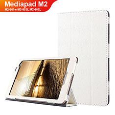 Handyhülle Hülle Stand Tasche Leder L01 für Huawei Mediapad M2 8 M2-801w M2-803L M2-802L Weiß