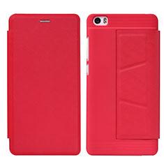 Handyhülle Hülle Stand Tasche Leder L01 für Xiaomi Mi Note Rot
