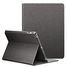 Handyhülle Hülle Stand Tasche Leder L02 für Apple iPad 2 Schwarz