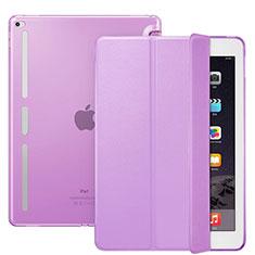 Handyhülle Hülle Stand Tasche Leder L02 für Apple iPad Pro 12.9 Violett