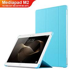 Handyhülle Hülle Stand Tasche Leder L02 für Huawei MediaPad M2 10.0 M2-A01 M2-A01W M2-A01L Hellblau