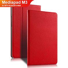 Handyhülle Hülle Stand Tasche Leder L02 für Huawei Mediapad M3 8.4 BTV-DL09 BTV-W09 Rot