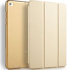 Handyhülle Hülle Stand Tasche Leder L02 für Xiaomi Mi Pad 3 Gold