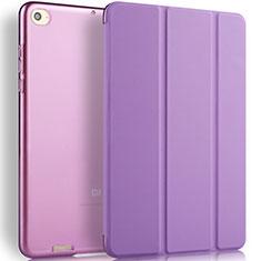 Handyhülle Hülle Stand Tasche Leder L02 für Xiaomi Mi Pad 3 Violett