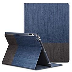 Handyhülle Hülle Stand Tasche Leder L03 für Apple iPad 2 Blau