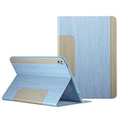 Handyhülle Hülle Stand Tasche Leder L03 für Apple iPad Pro 9.7 Hellblau