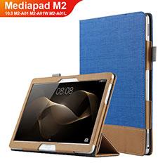 Handyhülle Hülle Stand Tasche Leder L03 für Huawei MediaPad M2 10.0 M2-A01 M2-A01W M2-A01L Blau