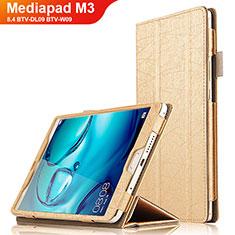 Handyhülle Hülle Stand Tasche Leder L04 für Huawei Mediapad M3 8.4 BTV-DL09 BTV-W09 Gold