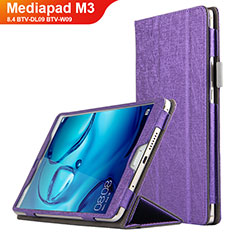 Handyhülle Hülle Stand Tasche Leder L04 für Huawei Mediapad M3 8.4 BTV-DL09 BTV-W09 Violett