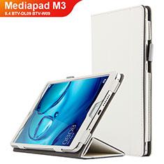 Handyhülle Hülle Stand Tasche Leder L04 für Huawei Mediapad M3 8.4 BTV-DL09 BTV-W09 Weiß