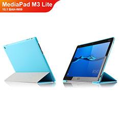 Handyhülle Hülle Stand Tasche Leder L04 für Huawei MediaPad M3 Lite 10.1 BAH-W09 Hellblau