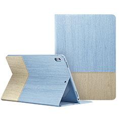Handyhülle Hülle Stand Tasche Leder L06 für Apple iPad Pro 10.5 Hellblau