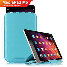 Handyhülle Hülle Stand Tasche Leder L06 für Huawei MediaPad M5 8.4 SHT-AL09 SHT-W09 Hellblau