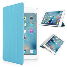 Handyhülle Hülle Stand Tasche Leder Matt für Apple iPad Pro 9.7 Hellblau