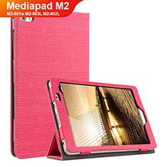 Handyhülle Hülle Stand Tasche Stoff für Huawei Mediapad M2 8 M2-801w M2-803L M2-802L Rot
