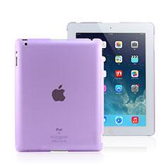 Handyhülle Hülle Ultra Dünn Schutzhülle Durchsichtig Transparent Matt für Apple iPad 3 Violett