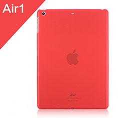 Handyhülle Hülle Ultra Dünn Schutzhülle Durchsichtig Transparent Matt für Apple iPad Air Rot