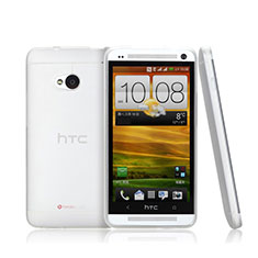 Handyhülle Hülle Ultra Dünn Schutzhülle Durchsichtig Transparent Matt für HTC One M7 Weiß