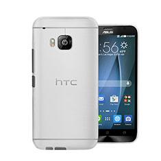 Handyhülle Hülle Ultra Dünn Schutzhülle Durchsichtig Transparent Matt für HTC One M9 Weiß