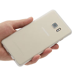 Handyhülle Hülle Ultra Dünn Schutzhülle Durchsichtig Transparent Matt für Samsung Galaxy Note 7 Weiß