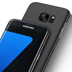 Handyhülle Hülle Ultra Dünn Schutzhülle Durchsichtig Transparent Matt für Samsung Galaxy S7 Edge G935F Schwarz