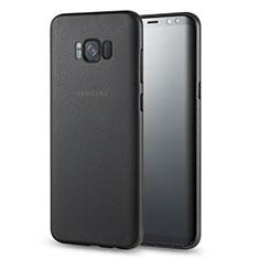 Handyhülle Hülle Ultra Dünn Schutzhülle Durchsichtig Transparent Matt für Samsung Galaxy S8 Plus Schwarz
