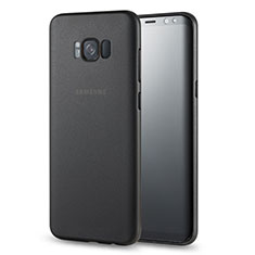 Handyhülle Hülle Ultra Dünn Schutzhülle Durchsichtig Transparent Matt für Samsung Galaxy S8 Schwarz