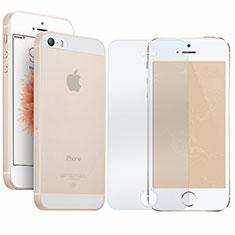 Handyhülle Hülle Ultra Dünn Schutzhülle Durchsichtig Transparent Matt mit Schutzfolie für Apple iPhone 5S Klar