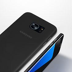 Handyhülle Hülle Ultra Dünn Schutzhülle Durchsichtig Transparent Matt T01 für Samsung Galaxy S7 Edge G935F Schwarz