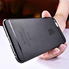 Handyhülle Hülle Ultra Dünn Schutzhülle Durchsichtig Transparent Matt T06 für Apple iPhone 6S Schwarz