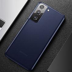 Handyhülle Hülle Ultra Dünn Schutzhülle Hartschalen Tasche Durchsichtig Transparent Matt U01 für Samsung Galaxy S21 5G Blau