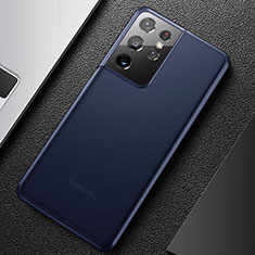 Handyhülle Hülle Ultra Dünn Schutzhülle Hartschalen Tasche Durchsichtig Transparent Matt U01 für Samsung Galaxy S21 Ultra 5G Blau