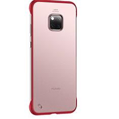 Handyhülle Hülle Ultra Dünn Schutzhülle Tasche Durchsichtig Transparent Matt H01 für Huawei Mate 20 Pro Rot