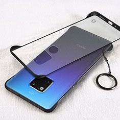 Handyhülle Hülle Ultra Dünn Schutzhülle Tasche Durchsichtig Transparent Matt H05 für Huawei Mate 20 Schwarz