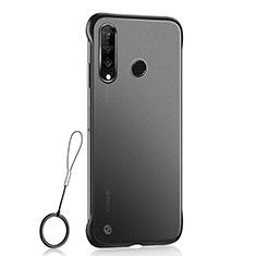 Handyhülle Hülle Ultra Dünn Schutzhülle Tasche Durchsichtig Transparent Matt H05 für Huawei P30 Lite Schwarz