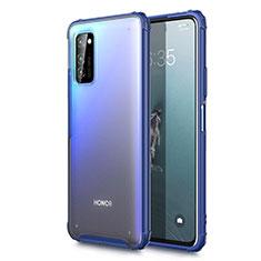 Handyhülle Hülle Ultra Dünn Schutzhülle Tasche Durchsichtig Transparent Matt U01 für Huawei Honor View 30 5G Blau