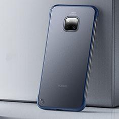 Handyhülle Hülle Ultra Dünn Schutzhülle Tasche Durchsichtig Transparent Matt U01 für Huawei Mate 20 Pro Blau