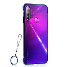 Handyhülle Hülle Ultra Dünn Schutzhülle Tasche Durchsichtig Transparent Matt U01 für Huawei Nova 5i Blau