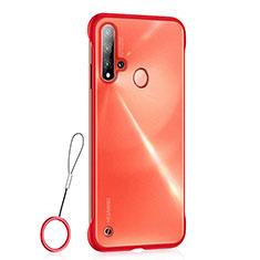 Handyhülle Hülle Ultra Dünn Schutzhülle Tasche Durchsichtig Transparent Matt U01 für Huawei Nova 5i Rot