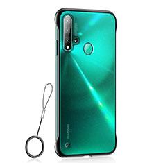 Handyhülle Hülle Ultra Dünn Schutzhülle Tasche Durchsichtig Transparent Matt U01 für Huawei Nova 5i Schwarz