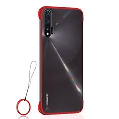 Handyhülle Hülle Ultra Dünn Schutzhülle Tasche Durchsichtig Transparent Matt U01 für Huawei Nova 6 5G Rot