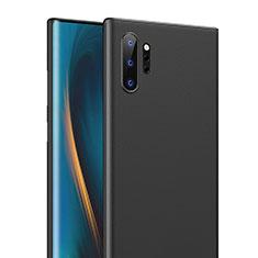 Handyhülle Hülle Ultra Dünn Schutzhülle Tasche Durchsichtig Transparent Matt U01 für Samsung Galaxy Note 10 Plus Schwarz