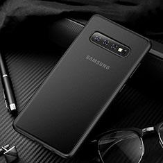 Handyhülle Hülle Ultra Dünn Schutzhülle Tasche Durchsichtig Transparent Matt U01 für Samsung Galaxy S10 5G Schwarz