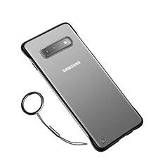 Handyhülle Hülle Ultra Dünn Schutzhülle Tasche Durchsichtig Transparent Matt U01 für Samsung Galaxy S10 Plus Schwarz