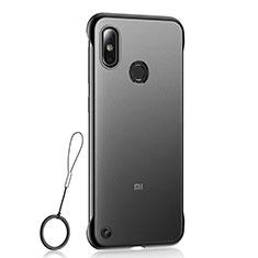 Handyhülle Hülle Ultra Dünn Schutzhülle Tasche Durchsichtig Transparent Matt U01 für Xiaomi Mi 8 Schwarz