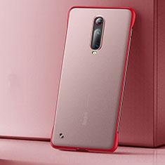 Handyhülle Hülle Ultra Dünn Schutzhülle Tasche Durchsichtig Transparent Matt U01 für Xiaomi Mi 9T Rot