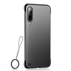 Handyhülle Hülle Ultra Dünn Schutzhülle Tasche Durchsichtig Transparent Matt U01 für Xiaomi Mi A3 Schwarz