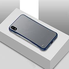 Handyhülle Hülle Ultra Dünn Schutzhülle Tasche Durchsichtig Transparent Matt U01 für Xiaomi Redmi 7A Blau