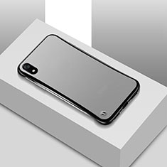 Handyhülle Hülle Ultra Dünn Schutzhülle Tasche Durchsichtig Transparent Matt U01 für Xiaomi Redmi 7A Schwarz